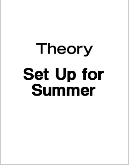 Theory Set Up for Summer